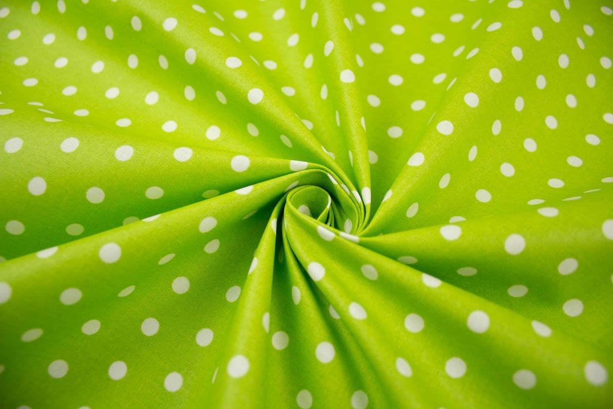 Beschichteter Pünktchenstoff in Grün