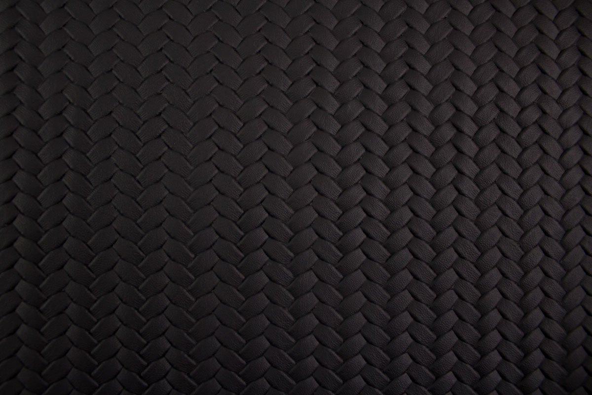 Breite 138 cm Farbe Dunkelblau Flechtoptik Kunstleder Pinto by Swafing uni