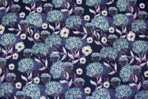 Softshellstoff mit Blumendruck