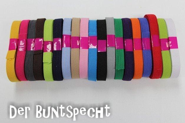 """2 m """"Gummiband"""" 10 mm - in vielen bunten Farben"""