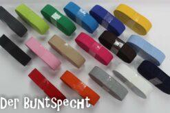 """2 m """"Gummiband"""" 18 mm - in 17 verschiedenen Farben"""