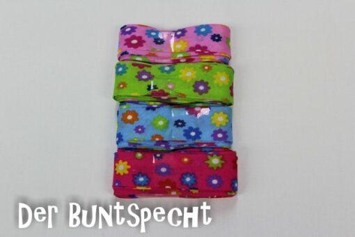 """3-Meter-Einfassband """"Bunte Blumen"""" in 4 verschiedenen Farben"""