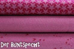 "Steppsweat ""Kelly"" - Sterne, Uni melange oder Schwalben -  pink SWAFING"