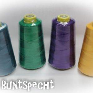 4 Konen Overlock-Garn - petrol, grün, lila oder sonnengelb