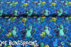 Baumwolljersey Die Monster Uni Mike und Sulley